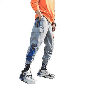 2019 Men Black Joggers Casual Pants Summer Mens Big Pockets Harem Cargo Pants Male Spring Streetwear Overalls Sweatpants