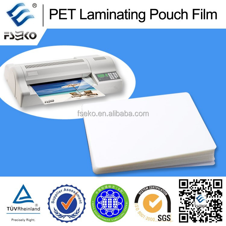 PET thermal laminating pouch/PET thermal pouch