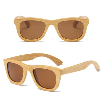 d0b5eecb86 Polarized Wood bamboo Sunglasses Men women Polaroid square for men women Mirror  Sun Glasses retro de