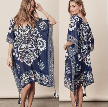 Printed Stock New Cocoon Beach 2018 Lovestitch Kimono Bikini QdCshtxr