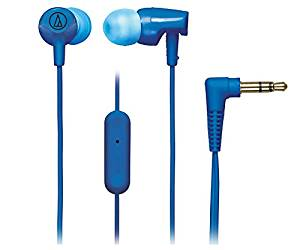 Audio-Technica SonicFuel In-ear Headphones with In-line Mic & Control - Stereo - Blue - Mini-phone - Wired