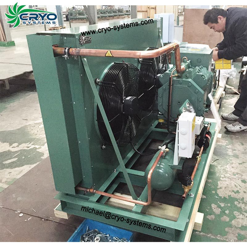15 hp outdoor condensing unit , bitzer air-cooled condensing unit , bitzer double stage