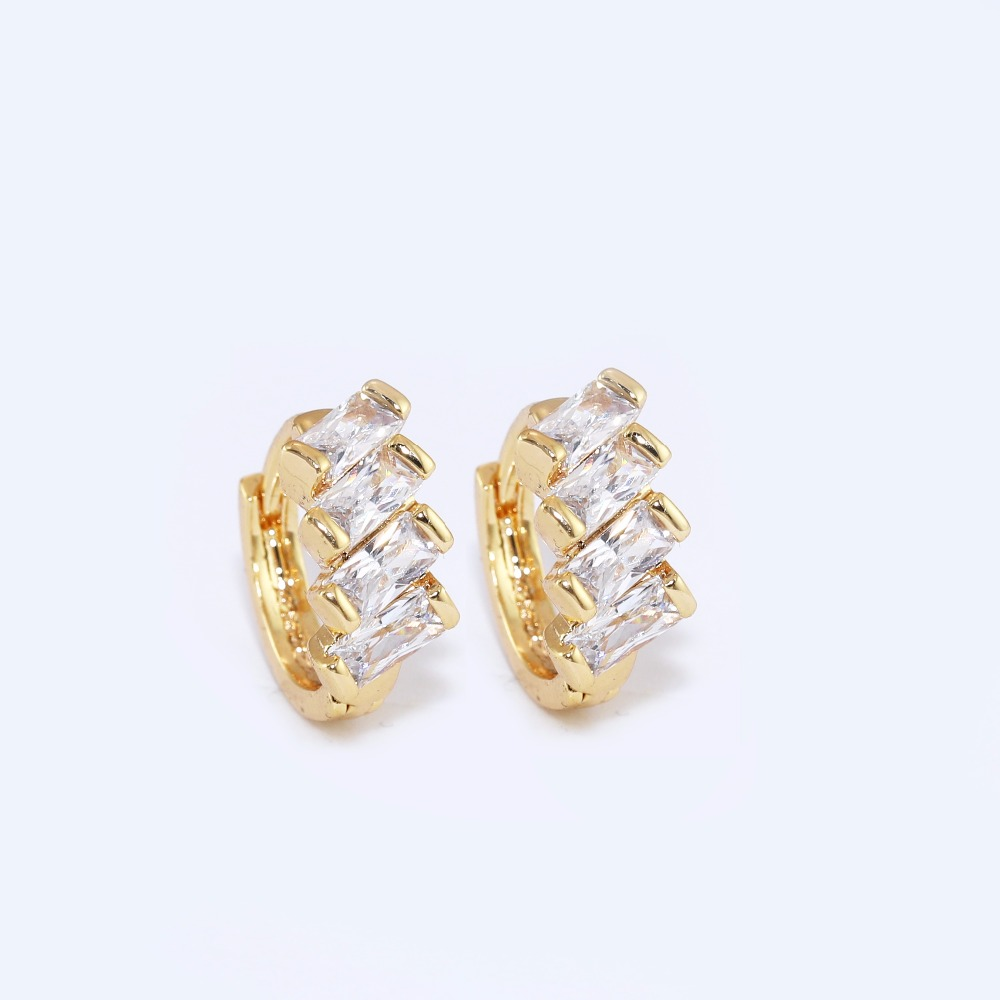 Small Hoop Earrings For Top Of Ear Hoops Diamond Studs Flower Cubic Zirconia
