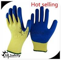 SRSAFETY 10g knitting gloves for winter use 2016 best selling gloves blue working safety gloves