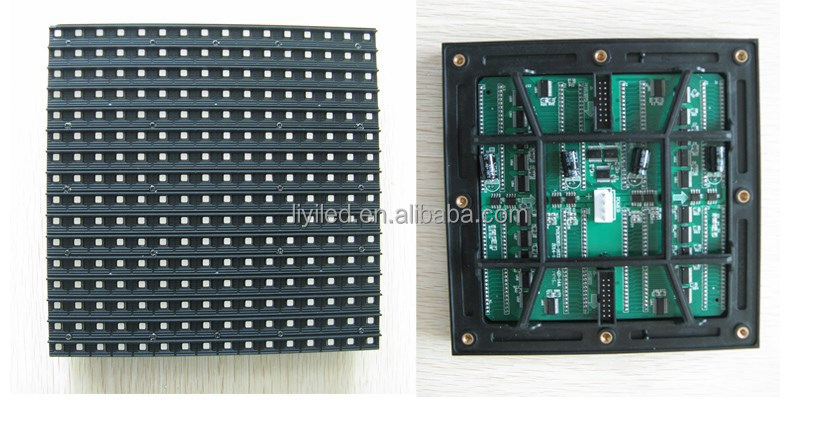 CE ROHS high bright 160*160mm 3535 16x16 1/2 scan hub75 waterproof outdoor full color smd led module p10
