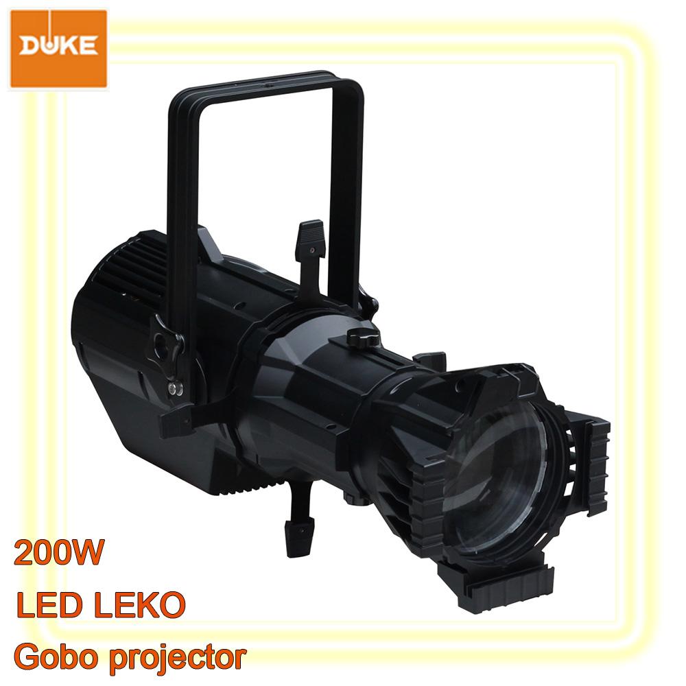 200w led leko led profile spot ellipsoidal lighting gobo projector warm white 3200k cold white. Black Bedroom Furniture Sets. Home Design Ideas