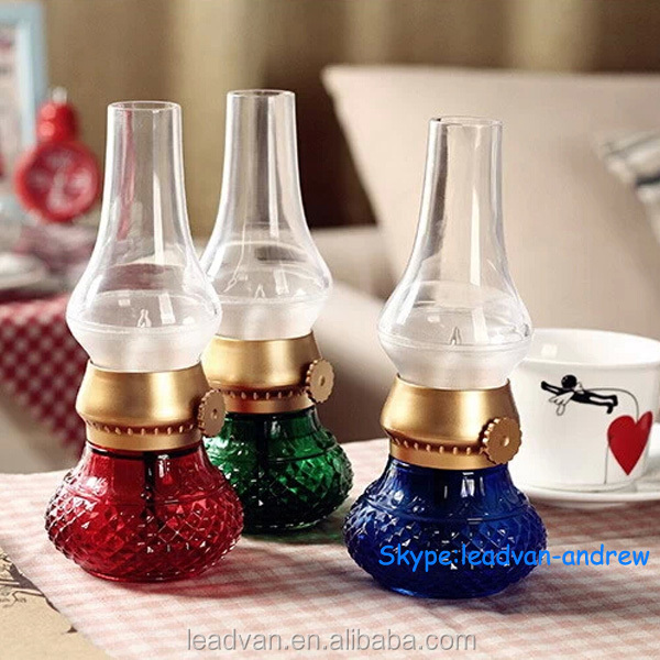 Creativa digital led vela vintage aceite de golpe de la lámpara ...