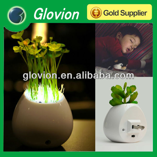 Novelty Simulation Green Plant LED Night Light Eco-friendly non-toxic tasteless night lamp decorative night lamp