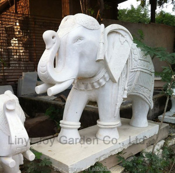 Large Outdoor Stone Animal Elephant Statue