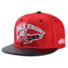 adjustable embroiery flat leather square brim flat top snapback hat