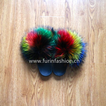 cute monster indoor shoes cute ladies multi color rainbow raccoon