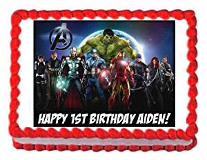THE AVENGERS edible party cake topper decoration cake frosting sheet
