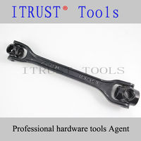 Black Plated 8 In 1 Socket Wrench Hand Tool WR7005B