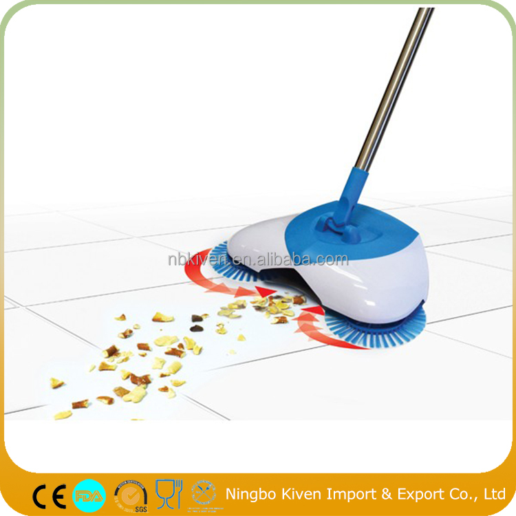 2017 NEW Hurricane Spin Broom Lightweight Cordless Spinning Broom