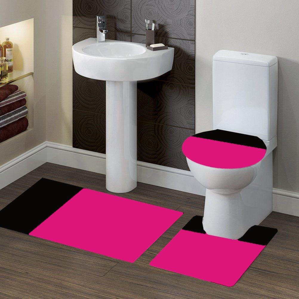 Get Quotations Gorgeoushomelinen 7 3 Piece Bathroom Bath Non Slip Contour Mat Rug