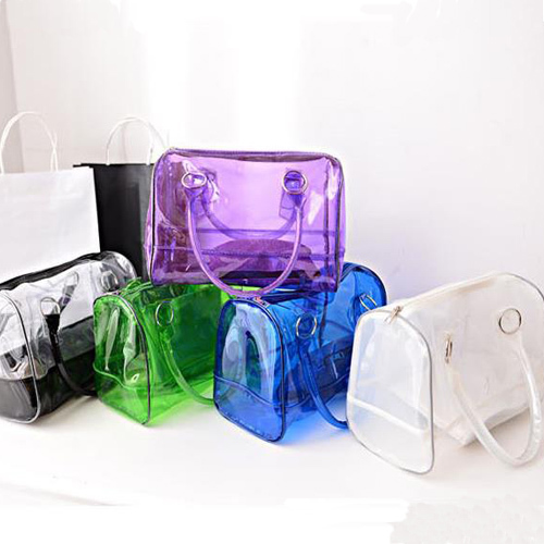 2015 new fashion summer women messenger bags female transparent beach bag jelly crystal bag handbag bolsas free shipping YYJ1848