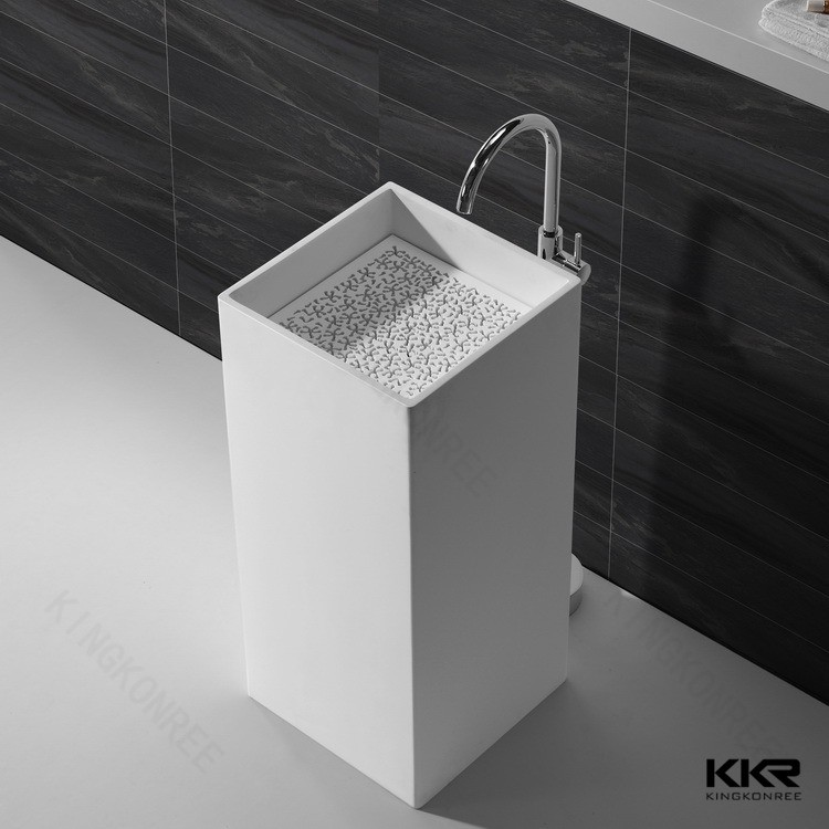 Marble Floor Sinks : Modern bathroom freestanding basin marble stone floor