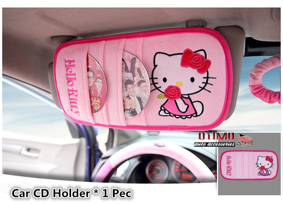10pcs set funny hello kitty car accessories car seat - Hello kitty car interior accessories ...