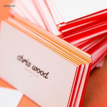 600gsm Coton Bord De Papier Colore Personnalise Letterpressed Impression Carte Visite