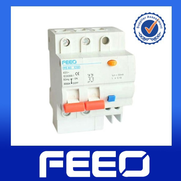 Electrical low voltage over current residual 2p 16a ELCB/RCCB/RCBO