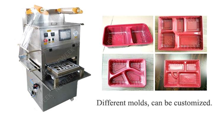 Vácuo contínuo NEWEEK rápida máquina de embalagem com mantendo o frescor do alimento vegetal tecnologia