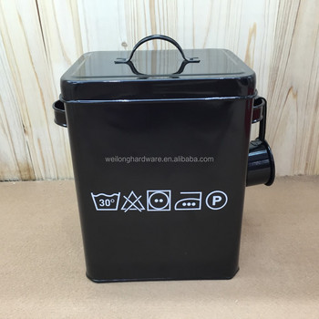 Powder Coating Household Large Metal Laundry Powder Box Storage Container