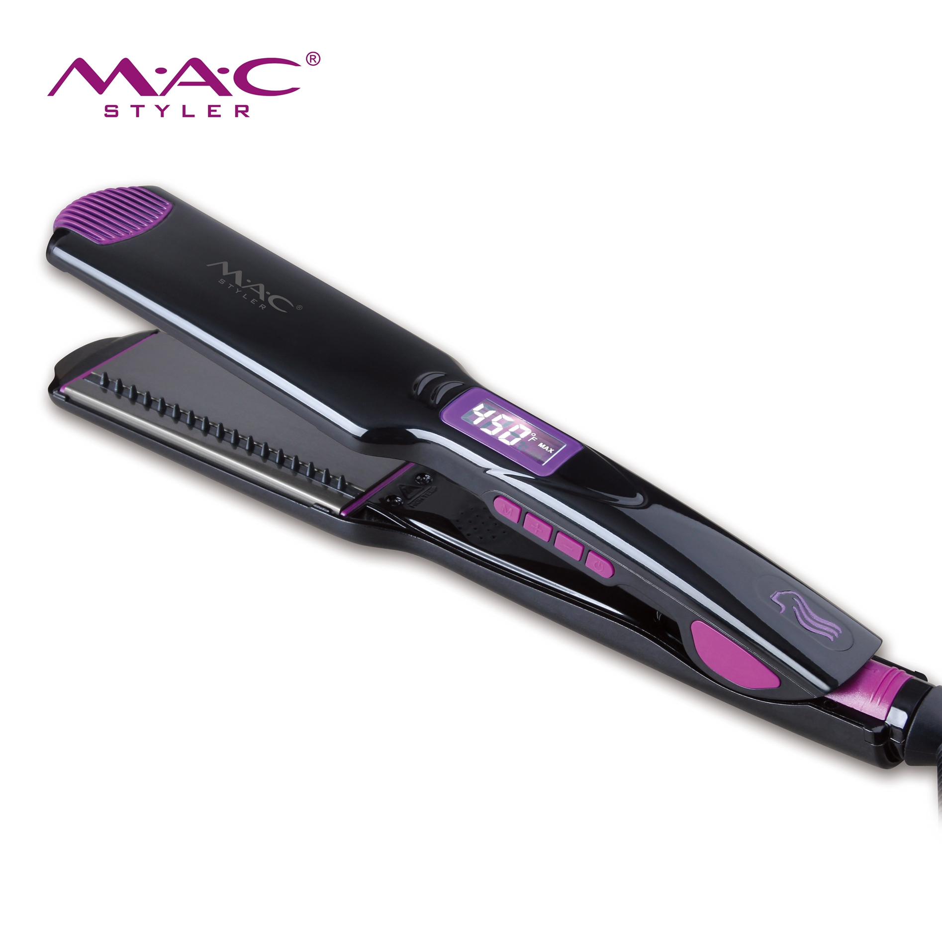Professional Electric Salon Hair Straighteners 248-450F Titanium Plate Hair Straightener Comb
