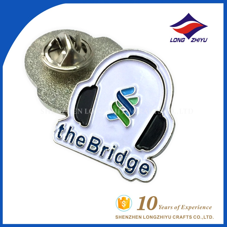 Metal badge silver plated high quality polished name badge maker
