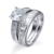High quality hot sale jewelry silver engagement ring