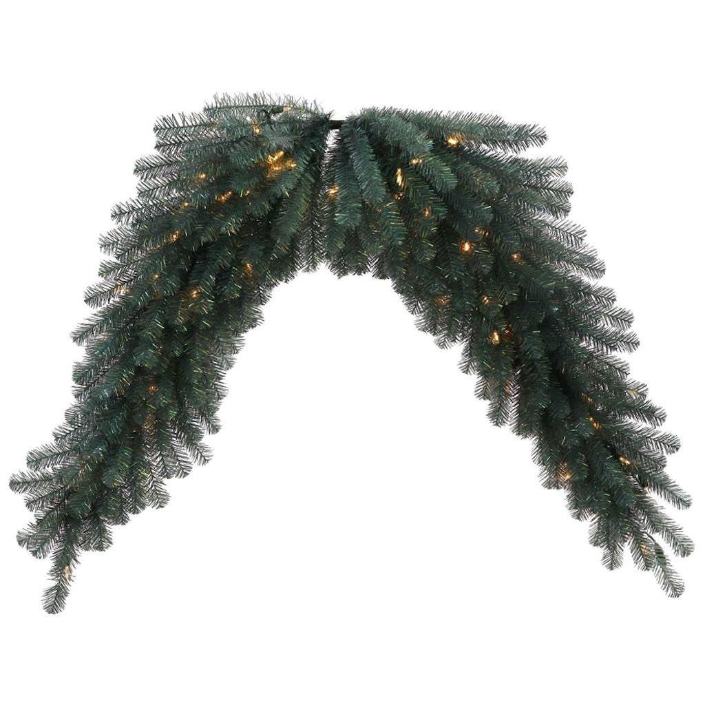 get quotations vickerman 30976 6 blue crystal swag christmas garland n131811led