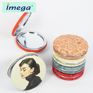 China suppliers cosmetic pocket table round cosmetic pocket makeup vanity makeup mirror
