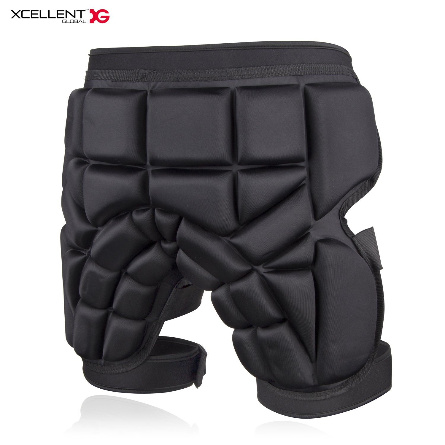 Xcellent Global 3D Protection Hip Padded Shorts Adjustable Unisex Protective Gear for Multisport Skiing, Skating, Snowboarding, Hockey, Riding HG251