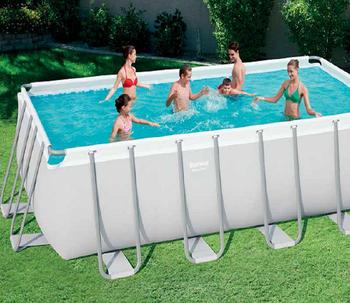 Bestway 56671 4.88mx2.44mx1.22m Rectangular Bracket Pool Set Frame Swimming  Pool - Buy Strong Frame Pool,Rectangular Frame Pool,Family Steel Pool ...