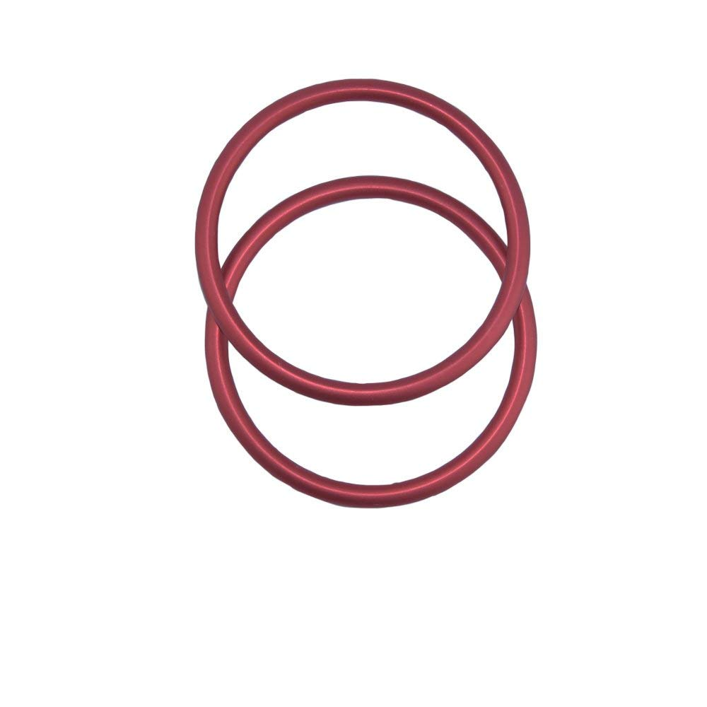 topind 3/anillos de aluminio de gran tama/ño beb/é sling para portabeb/és /& eslingas de 2/pcs gris