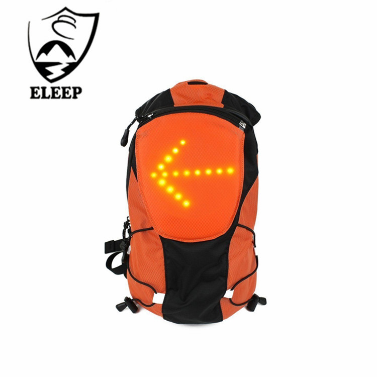 2017 Bicycle Waterproof Backpack With Pilot Lamp Security LED Turn Signal for Outdoor Sport