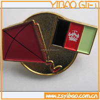 flag shape metal badge pin with butterfly cluth back , Customized Artworks and Styles Accepted