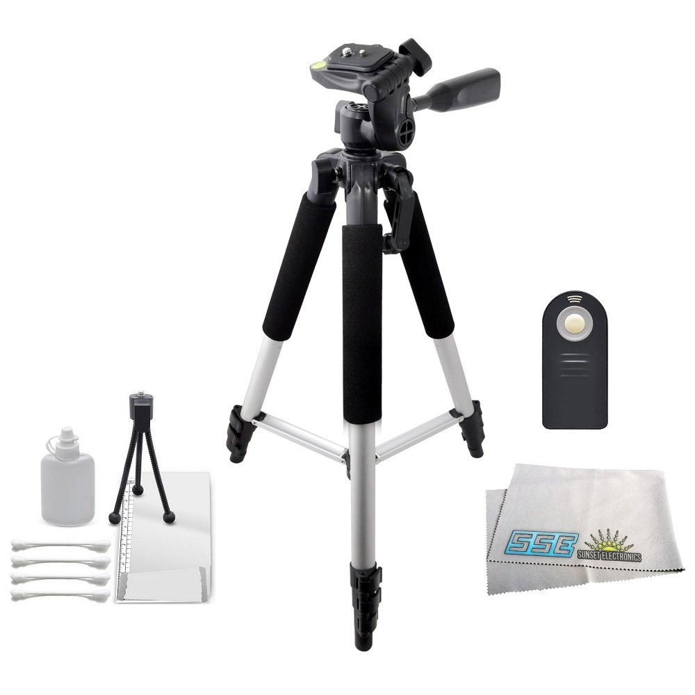 Sparta Travel Nylon Backpack Bag D90 D9 Orange, Black D800 D900 DSLR Camera and Screen Protector and Mini Tripod for Nikon D8 D80 D800e