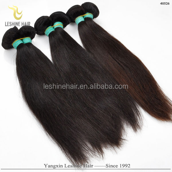 Good Customers' Feedback High Quality Full Cuticle Unprocessed Remy big yaki light brown natural human bulk hair 18 in