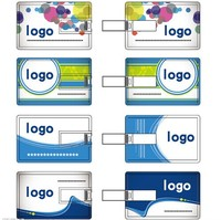 credit card shaped cheap 1gb usb pen drive with your logo for publicity your company