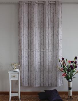 Floral Print Living Room India Stripe Print Curtain Fabric