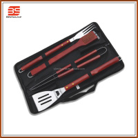 4-Piece BBQ Tool Set with Stainless Steel in Carry Case/ Tong/ Shovel/ Fork/ Brush