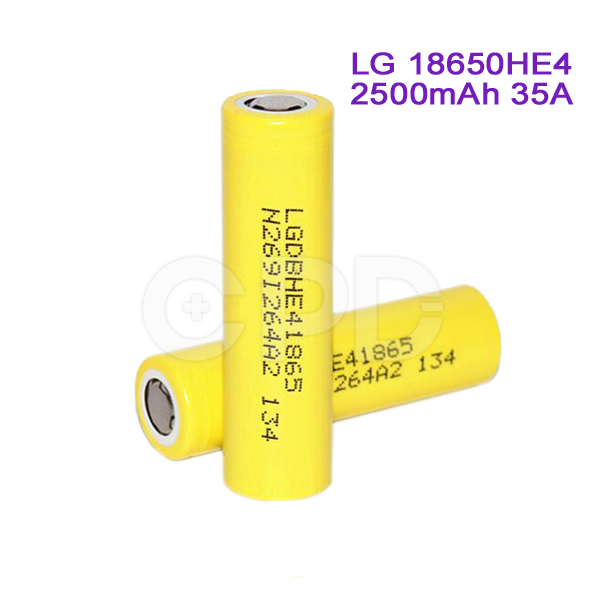 for LG Flat Top 18650HE4 3.7V 2500mAh 35A Li-ion Battery for Acer/Asus/Toshiba PC Pack Battery Cell