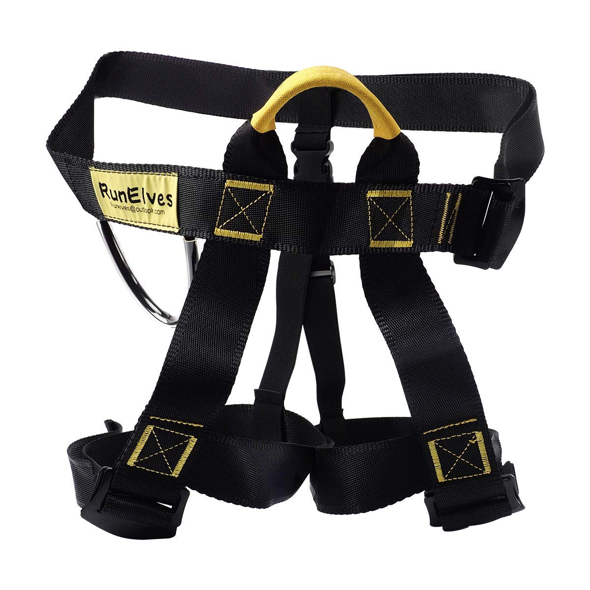 Climbing Harness,Thicken Protect Waist Leg Tree Arborist Climbing Safety Harness, Wider Seat Belts for Professional Mountain Fire Rescue,Rock Climbing Rappelling,Half Body Harness for Women Man Kids