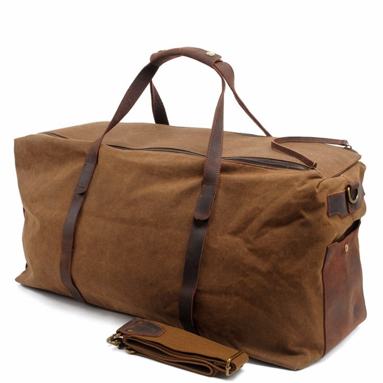 Mens Shoulder Waxed Canvas Custom Sports Duffle Bag Manufacturers
