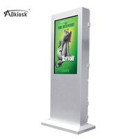 55 inch QLED standing information kiosk for advertisement big screen outdoor interactive kiosks metal machine enclose