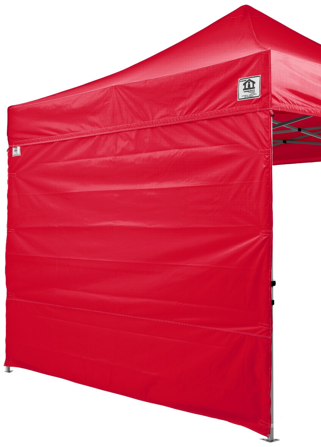 Impact Canopy Side Wall Kit, Canopy Walls for 10x10 Instant Pop Up Canopy Tent, Walls Only, 2 Pack, Red
