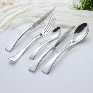 Elegant silverware set stainless steel dinner cutlery set flatware