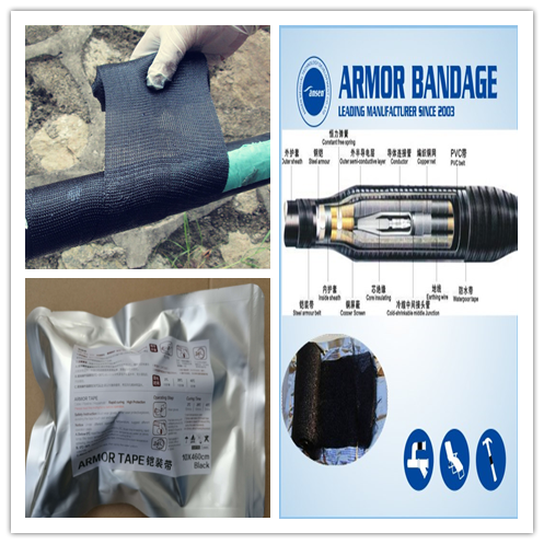 Anti-corrosion Fireproof Black Color Armor Belt For Cable Reinforce /Electric Wire Tape Armoring Tape