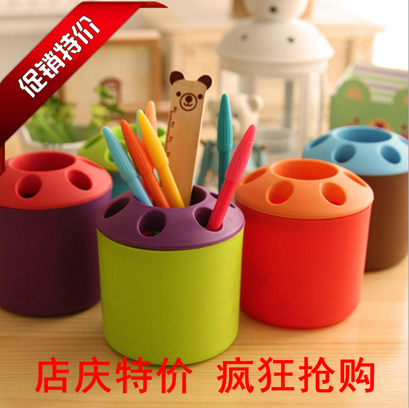 2018 hot koop office kids plastic pennenhouder container