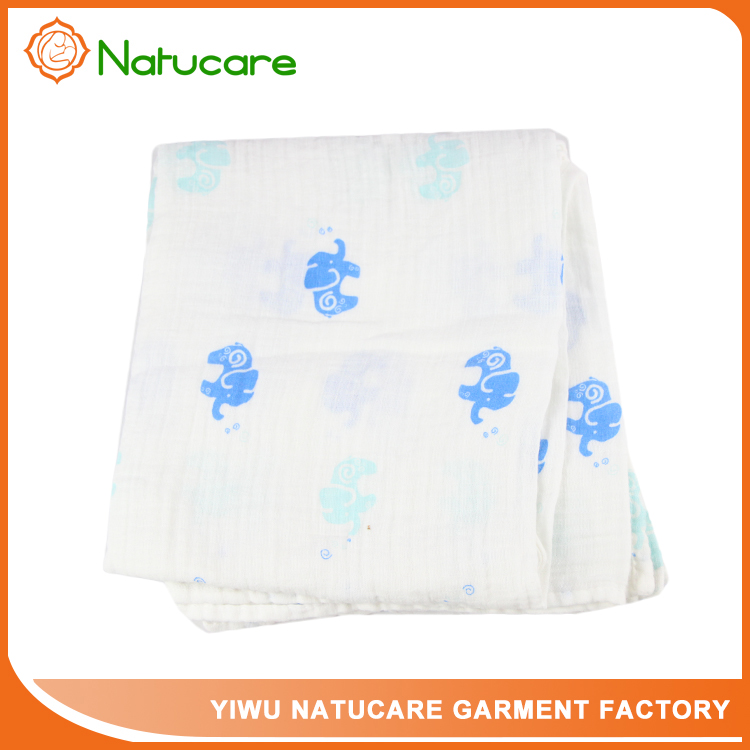 Squares Customize Logo and Print Muslin Swaddle